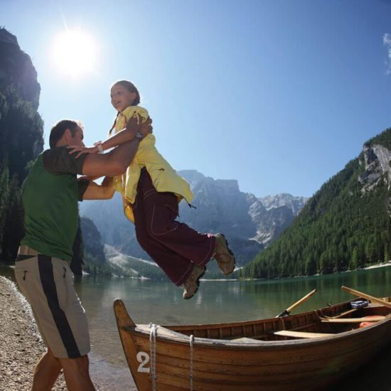 Vacanza in montagna con la famiglia